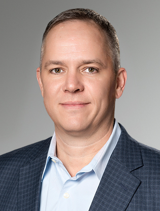 Headshot of Bryan Purdy <span>CISSP, CISM</span>, Senior Vice President, Information Technology at Buxton